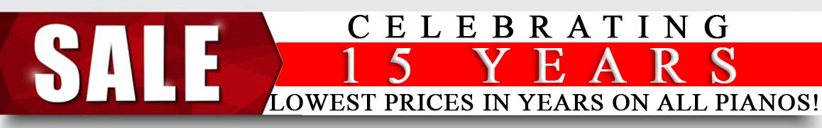 Living Pianos Anniversary Sale